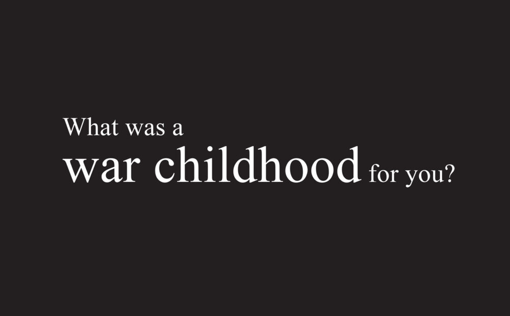 War Childhood Book